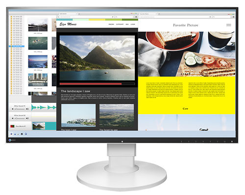 Eizo Flexscan EV2780 27 Inch Monitor with USB C-Type White Front