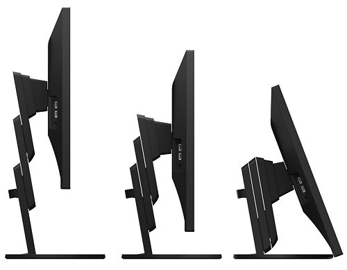 Eizo Flexscan EV3285 32 Inch Monitor Black Adjustable Height Side View