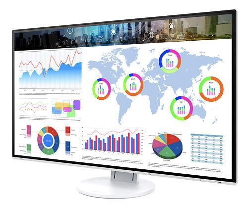 Eizo Flexscan EV3285 32 Inch Monitor White Bezel Front Left Side Display On