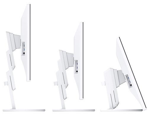 Eizo Flexscan EV3285 32 Inch Monitor White Bezel Side View Adjustable Height