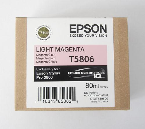 Epson Stylus Pro 3800 Ink T5806 Light Magenta Clearance Master Image