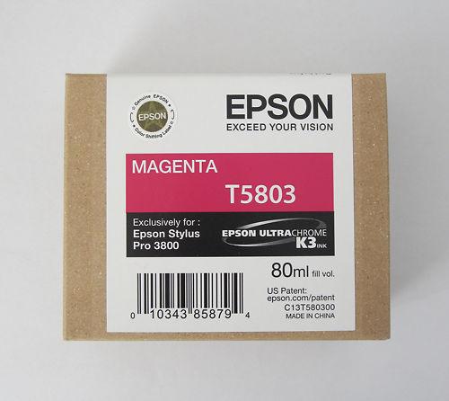 Epson Stylus Pro 3800 Ink T5803 Magenta Clearance Master Image