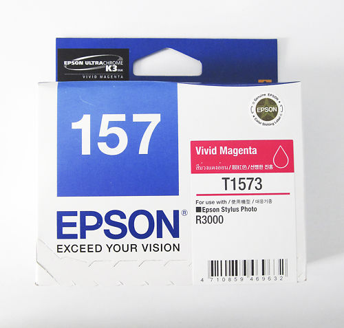 Epson Stylus Pro R3000 T1573 Vivid Magenta Ink Clearance Master Image
