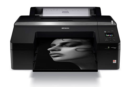 Epson SureColor P5070 Inkjet Printer Front With Print Sample