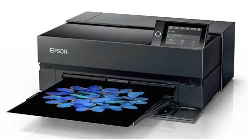 Epson P706 Printer front 45 printing