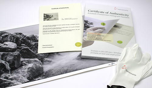 Hahnemuhle Authenticity Certificates Pack