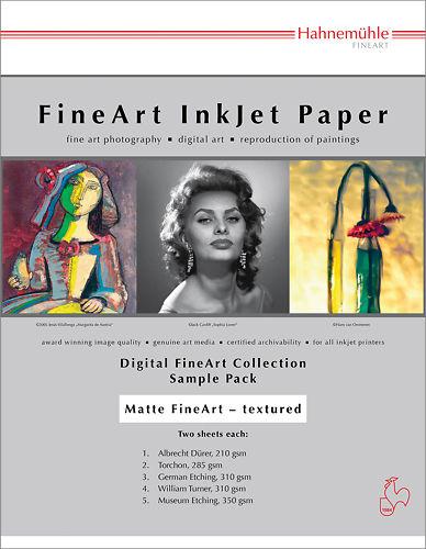 Hahnemühle Textured Matte Inkjet Sample Pack Master Image