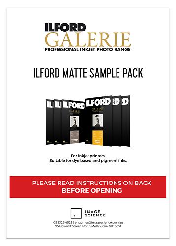 Ilford Galerie Matte Inkjet Paper Sample Pack Master Image