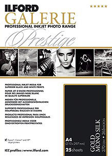 """Ilford Galerie Gold Mono Silk 270gsm 24""""x12m - Clearance Master Image"""