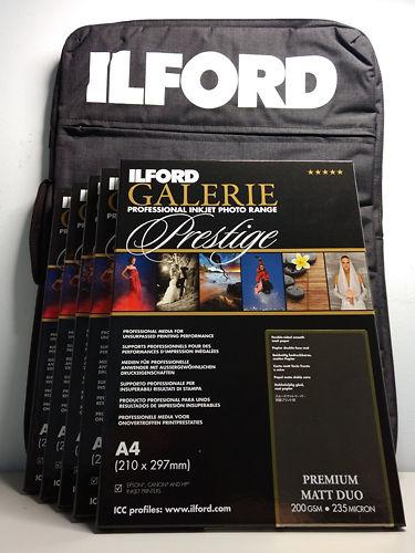 Ilford Portfolio Bag and Matte Paper Bundle Master Image