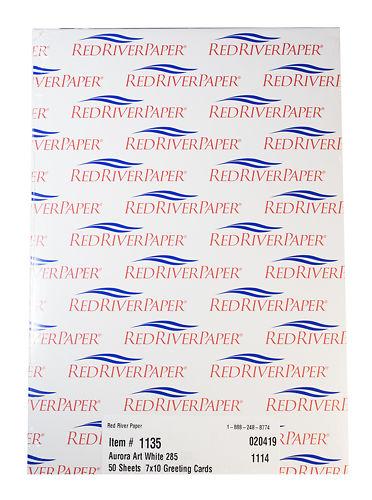 Red River Cards Aurora Art White 285gsm Box