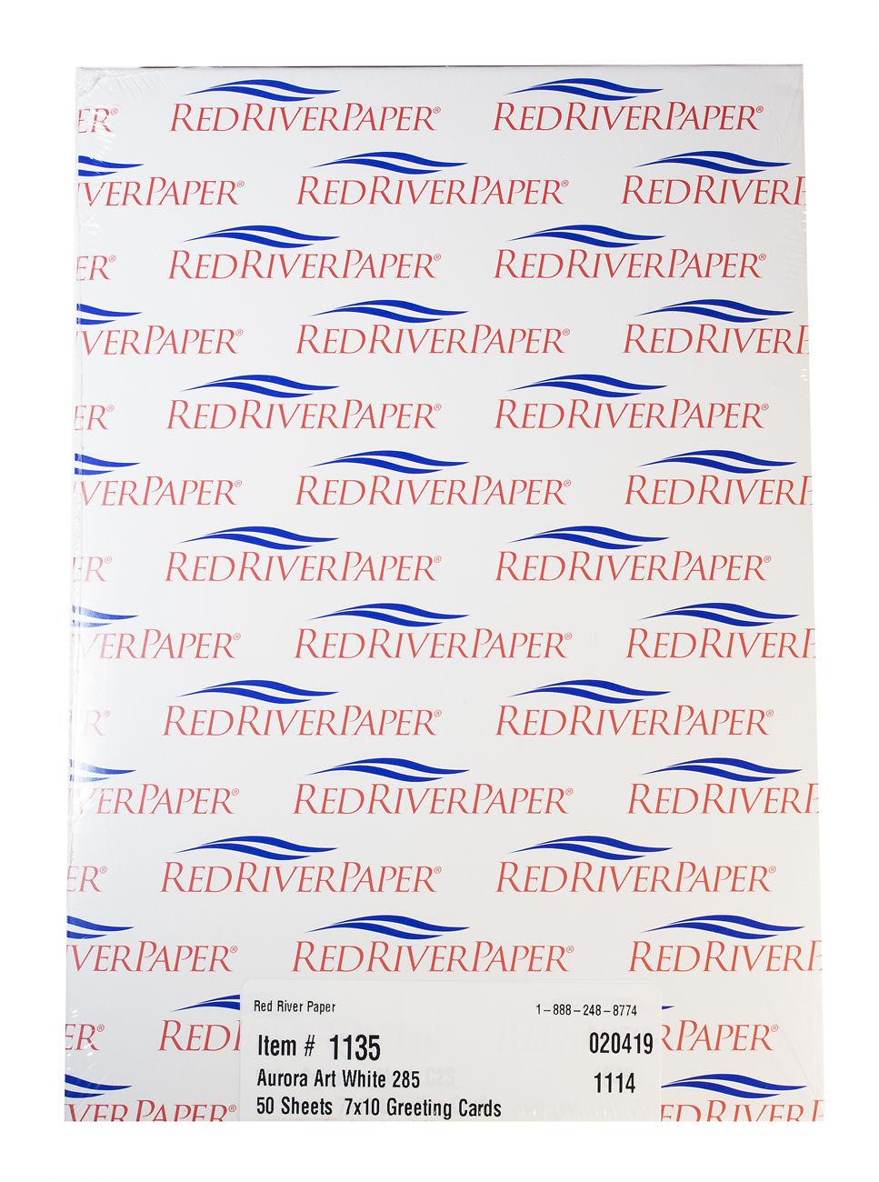 Red River Aurora White Fine Art Cards 285gsm Image