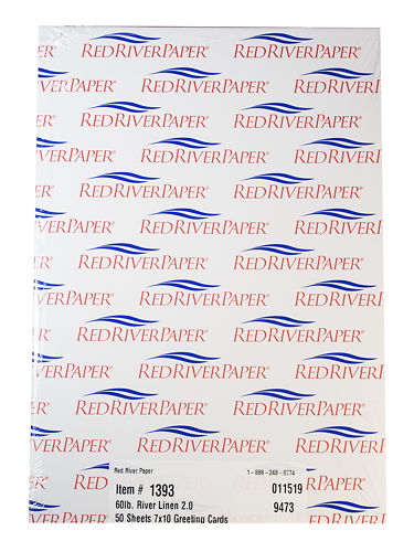 Red River Cards River Linen 230gsm Box