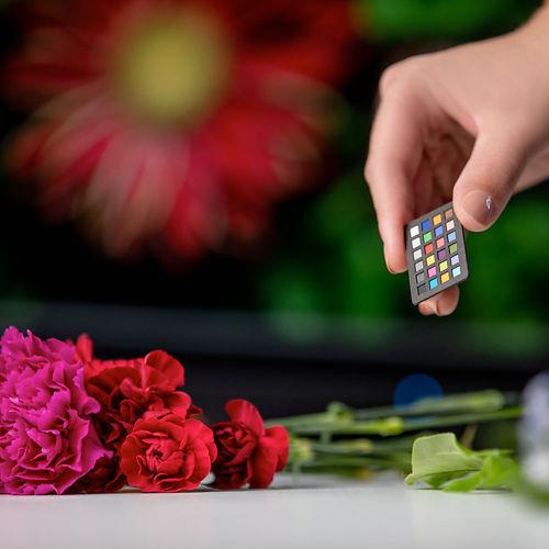 X Rite Colorchecker Nano Classic held in hand