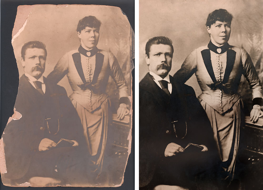 Original Photo Scan - Retouched Photo Restoration