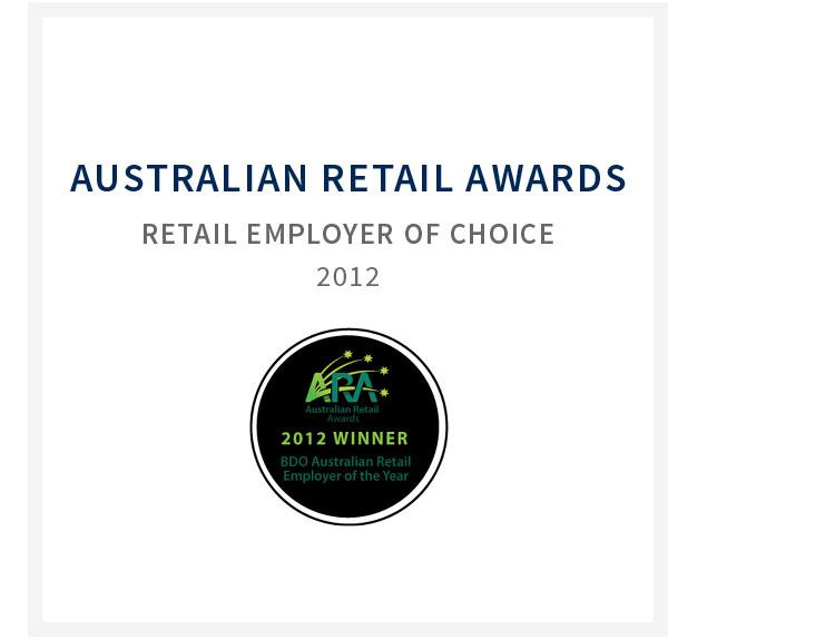 Australian retail awards - Retail employer of choice 2012
