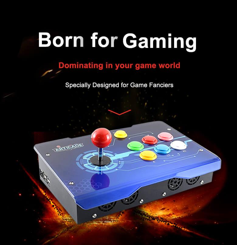 Arcade-D-1P arcade control box illustration