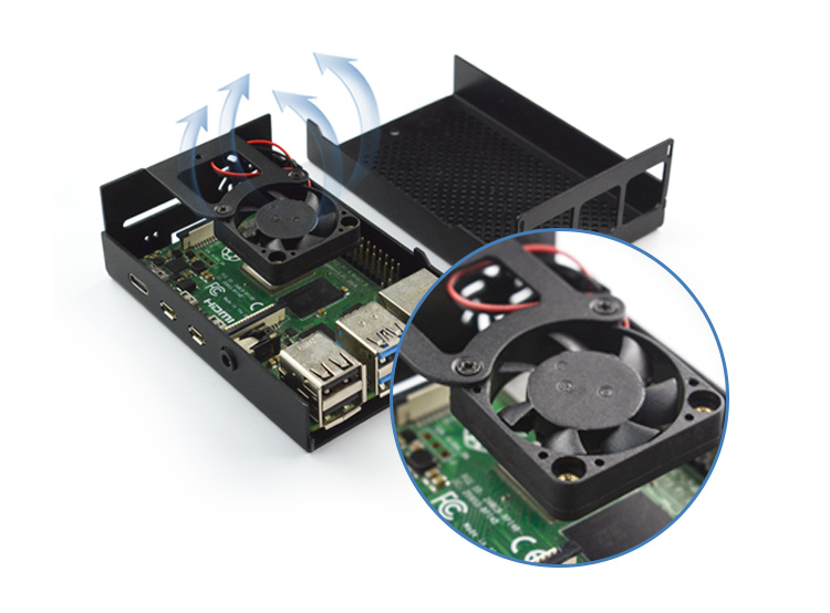 Aluminum Case for Raspberry Pi 4