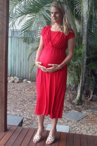Short sleeve Midi Stretchy Maternity and Nursing
