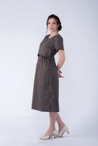 100% Cotton Elastic Back Nursing Pregnancy Dress