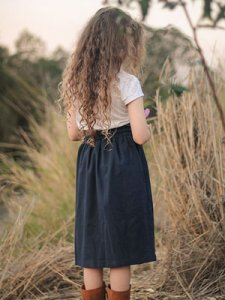 Girls 95% Linen 5% Spandex Skirt
