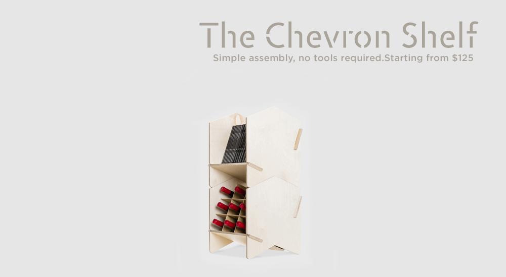 Chevron Shelf