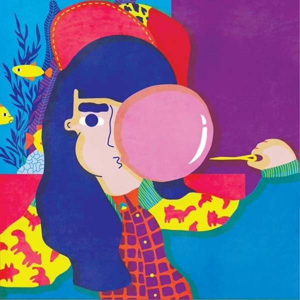 Andreea Dobin's cheerful illustrations adopt a colourful outlook on life