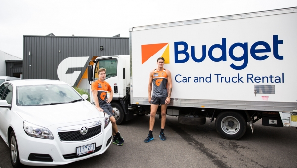 GIANTS Partner with Budget Car and Truck Rental