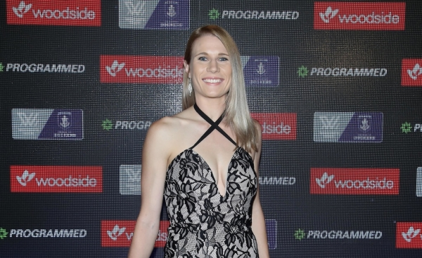 Dana Hooker, who gave birth less than a year ago, named top Docker in first AFLW season