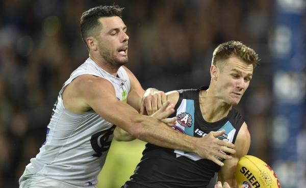 Gray kicks five as Port Adelaide demolish Carlton