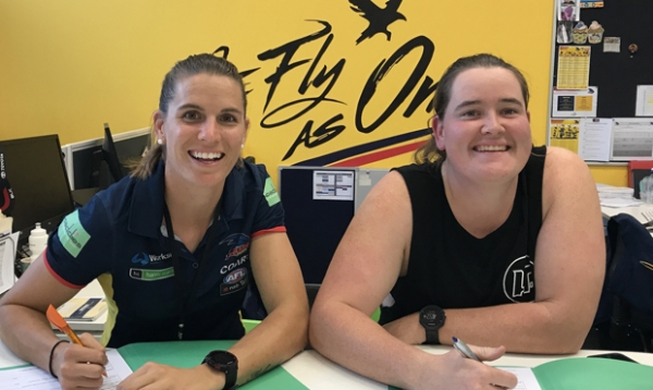 AFLW: Pair happy at 'home'