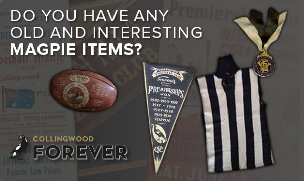 The hunt for Collingwood relics