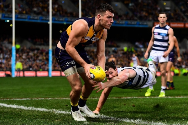 Eagles captain Shannon Hurn goes into bat for Luke Shuey after Dangerfield bump