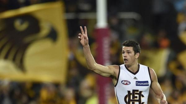 Hawks re-sign young gun Burton in AFL
