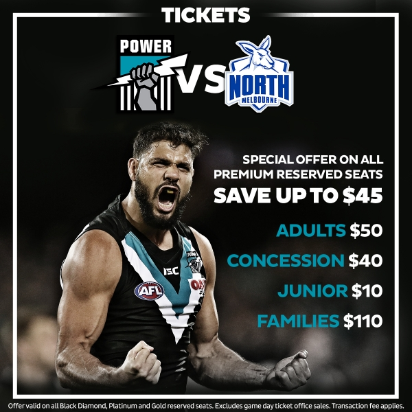 Cheap tix to Power v Roos
