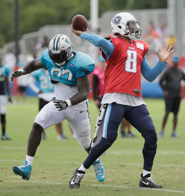 Newton throws more, but Titans handles sloppy Panthers