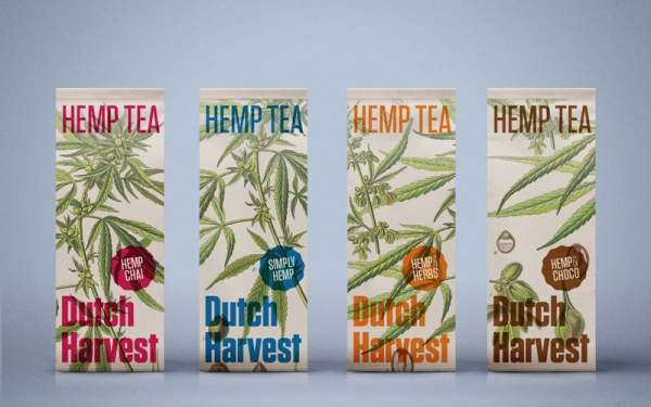 Dutch Harvest Hemp Tea Packaging