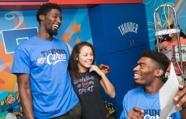Daniel Hamilton, Dakari Johnson Bring Smiles at Children's Hospital