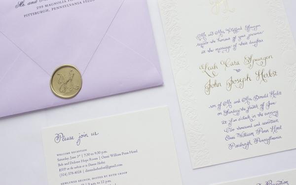 Herbst & Spungen Wedding Invitation Suite