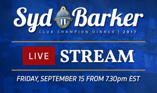 Syd Barker Medal live stream