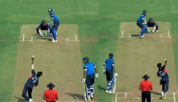 VIDEO: India's Akshay Karnewar Bowled With Both Hands In The Same Over Against Australia