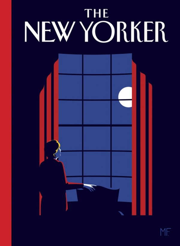 "Malika Favre's unseen ""if Hillary had won"" cover for The New Yorker"
