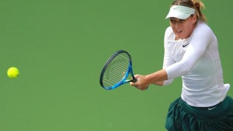 Maria Sharapova reaches Tianjin Open quarter-finals by beating Magda Linette