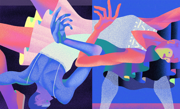 Saiman Chow's adopts a psychedelic vibe for his editorial illustrations