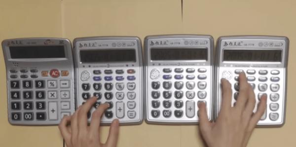 YouTube maestro kills Super Mario Bros. theme song on 4 calculators