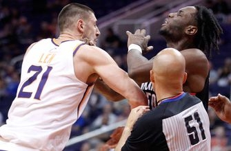 Suns fall to 1-3 in preseason with loss to Blazers; Len ejected following scuffle