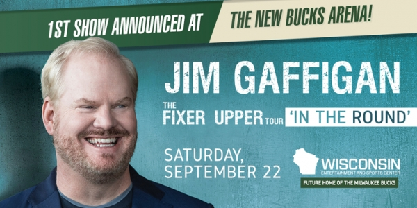 Jim Gaffigan to Perform First Comedy Show at Wisconsin Entertainment and Sports Center in Milwaukee