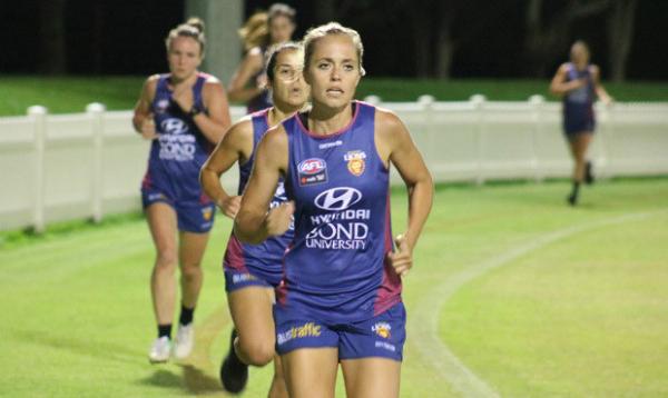 AFLW: Ashmore lights up Lions training