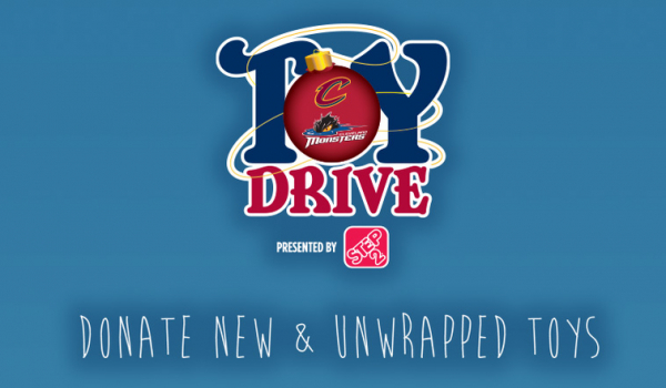 Cavs and Monsters Annual Toy Drive Begins Friday