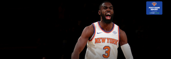 NYK 108, TOR 100: Knicks Catch Fire in the Third Quarter and THJ Sets Career-High
